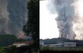 Havai fişek fabrikasında büyük patlama