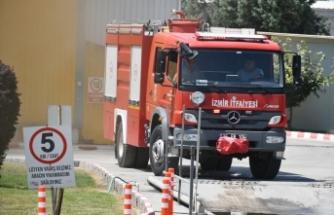 İzmir'de piliç kesimhanesinde çıkan yangın söndürüldü