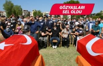 İzmir'de şehit itfaiye erlerine yürek yakan veda