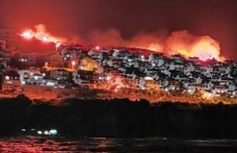 Karaburun'da makilik alanda yangın çıktı!