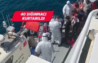 İzmir'de geri itilen sığınmacılar kurtarıldı