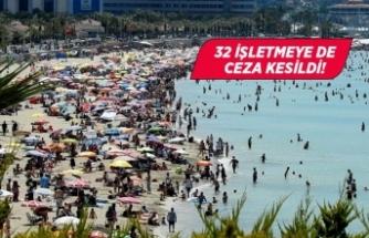 Çeşme'de maske takmayan 116 kişiye ceza kesildi