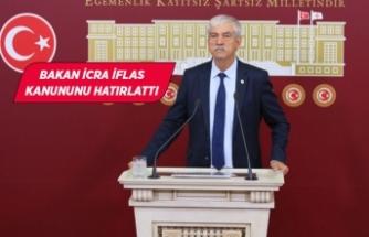 CHP'li Beko, Bakanı halka şikayet etti