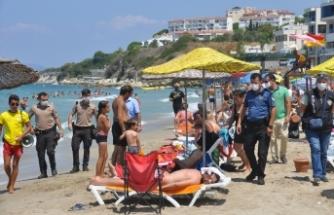 Ege'deki tatil beldelerinde Kovid-19 denetimi