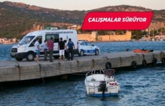 Foça'daki tekne faciasında kaybolan çocuk aranıyor