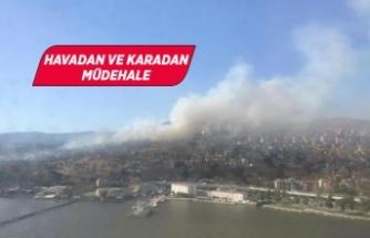 İzmir'de askeri alanda yangın!