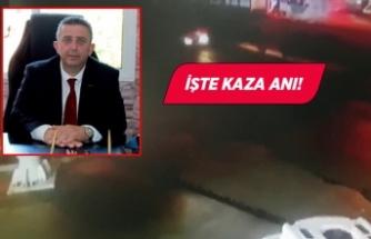 İzmir'de kaza! Oda başkanı otomobiliyle motosiklete çarptı:!