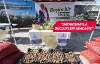 Büyükşehir'den üreticiye destek, toprağa bereket!