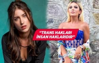 Hazal Kaya'dan Selin Ciğerci'ye destek