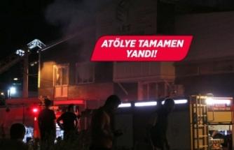 İzmir'de marangoz atölyesinde yangın!