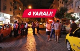 İzmir'de taksi durağında silahlı kavga