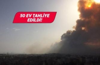 Söke'de yangın! 50 ev tahliye edildi