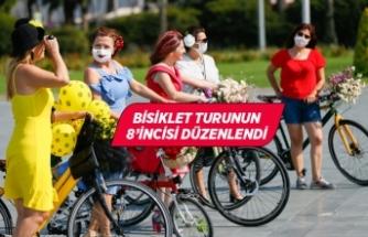 """""""Süslü Kadınlar"""" bisiklet turunu, """"Kovid-19"""" tedbirleri altında gerçekleştirdi"""