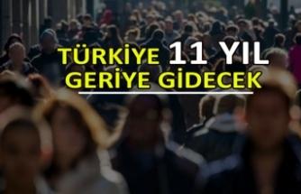 Türkiye 11 yıl geriye gidecek