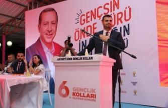 AK Parti Kınık Gençlik Kolları seçiminde büyük coşku