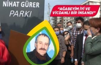 Akşener, İzmir'de ağabeyinin ismini taşıyan parkı açtı