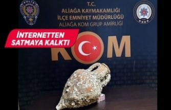 İzmir'de 2 bin 500 yıllık amfora ele geçirildi