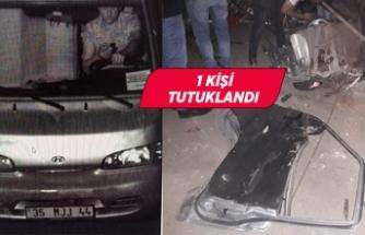 İzmir'de çalınan otomobil, Torbalı'da parçalanmış halde bulundu