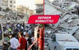 İzmir depreminden görüntüler!