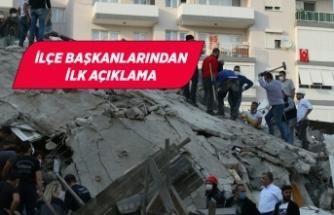 İzmirli başkanlardan deprem açıklaması!