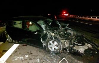 Manisa'da kaza: 1 ölü, 4 yaralı