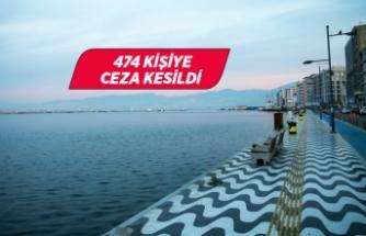 İzmir'de sokağa çıkma kısıtlamasına uymayanlara ceza kesildi