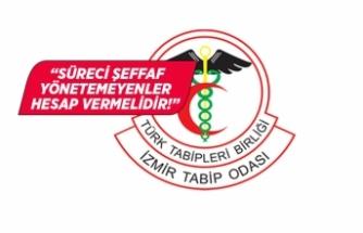 İzmir Tabip Odası'ndan açıklama!