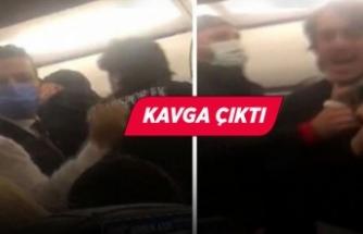 İzmir uçağında arbede!