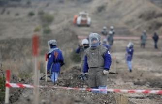 Karabağ'da kurtarılan bölgeler, mayından temizleniyor