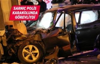 Polis memuru trafik kazası kurbanı