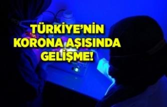 Türkiye'nin ilk korona aşısında büyük aşama kaydedildi