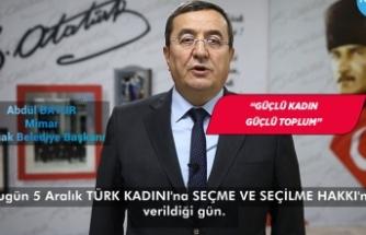 Abdül Batur'dan 5 Aralık mesajı