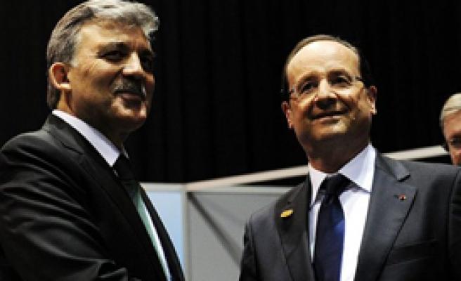 Fransız ve Alman Liderlerle Görüştü