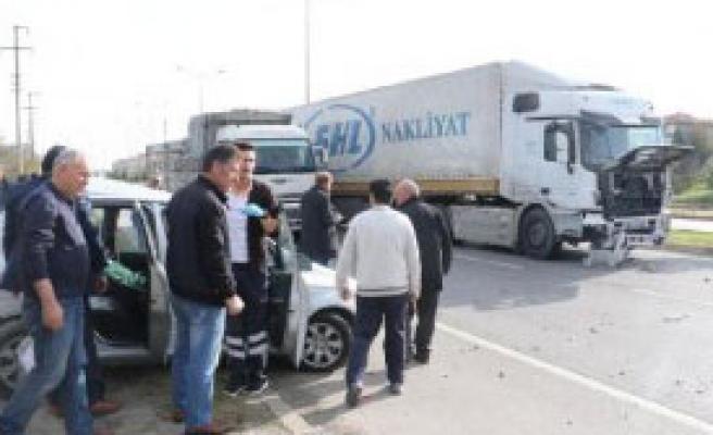 Samsun'da Kaza:1 Yaralı