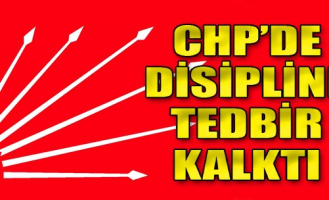 CHP'de Disipline Tedbir Kalktı