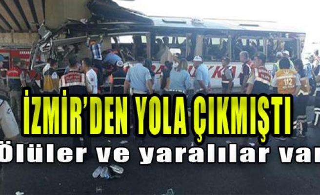 Ankara'da Korkunç Otobüs Kazası