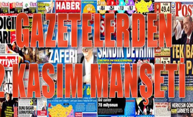 Gazetelerden 2 Kasım Manşeti