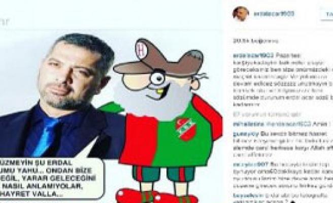 Karşıyaka'ya Acar'dan Karikatürlü Yanıt
