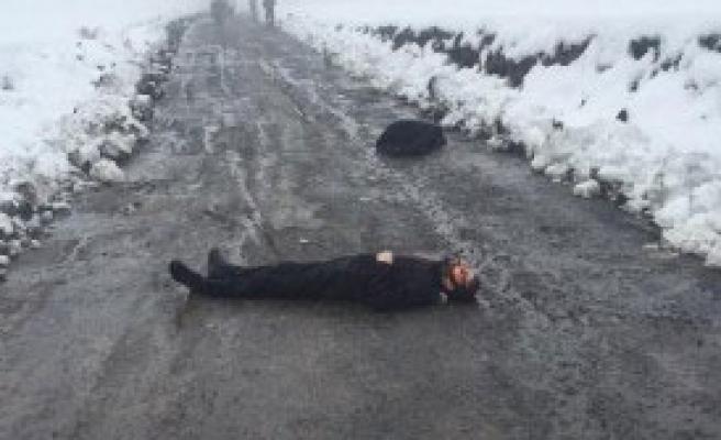 Yol Ortasında Cesetleri Bulundu