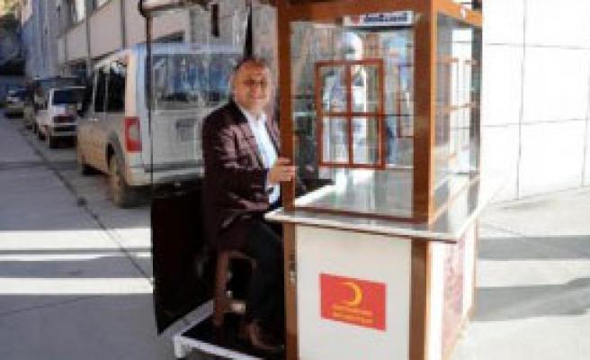 Kastamonu'da Engellilere Özel Simit Arabası