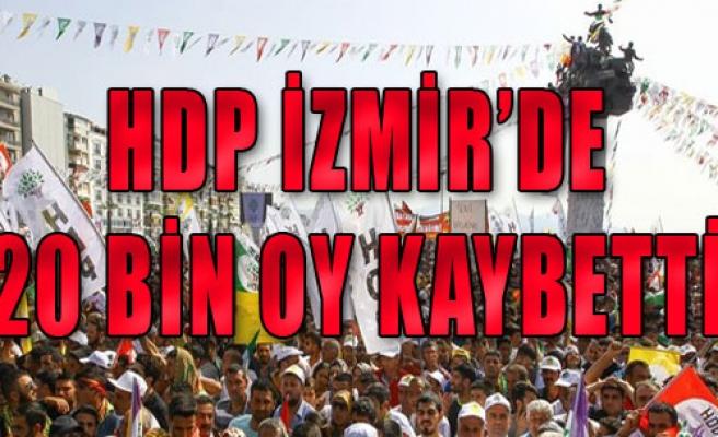HDP İzmir'de 20 Bin Oy Kaybetti