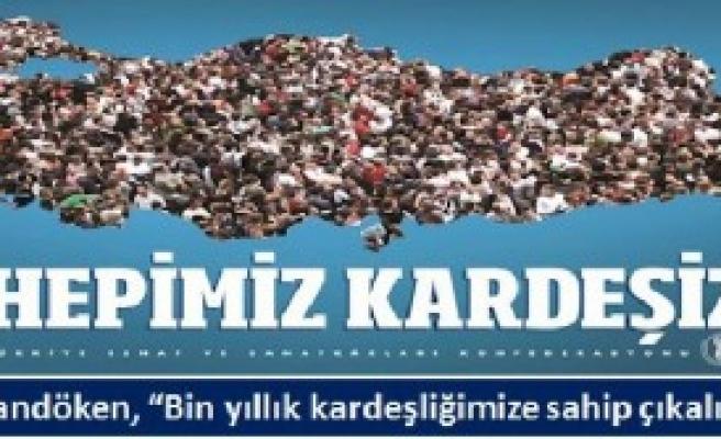 'Hepimiz Kardeşiz' Afişi