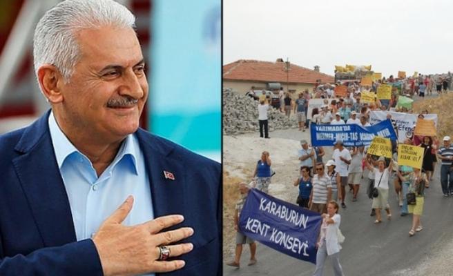 Karaburun'dan Başbakan Yıldırım'a flaş çağrı