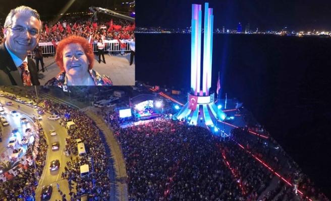 Karşıyaka'da muhteşem kutlama: Alana sığmadı!