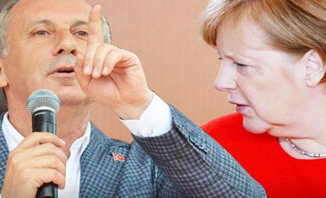Muharrem İnce'den Merkel'e sert tepki