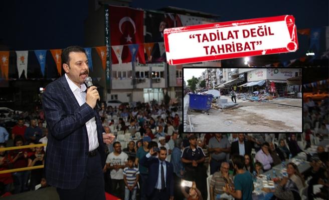 AK Partili Kaya'dan 'tadilat' eleştirisi: Kaldırım belediyeciliği!