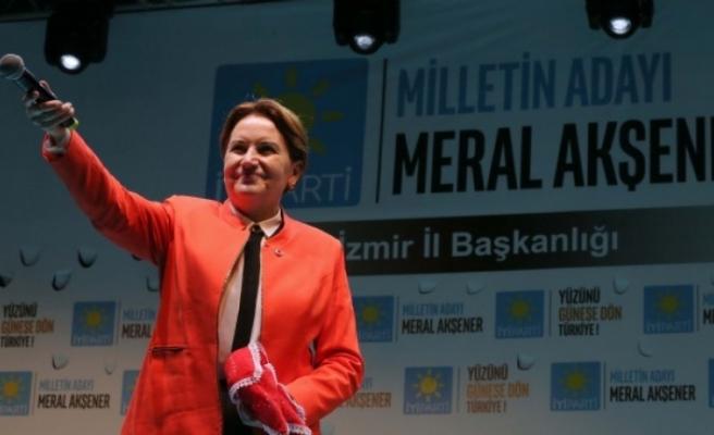 Akşener'den İzmir'de Başbakan'a hodri meydan!