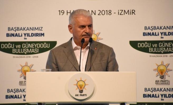 Başbakan Yıldırım, İzmir'de Güneydoğulu önderlerle buluştu