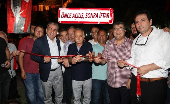 Bayraklı'da amatöre destek, açılış ve iftarla taçlandı