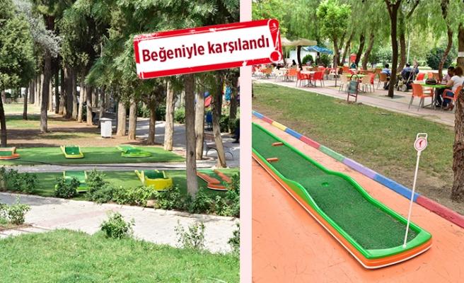 Bornova Belediyesi'nden çocuklar için mini golf